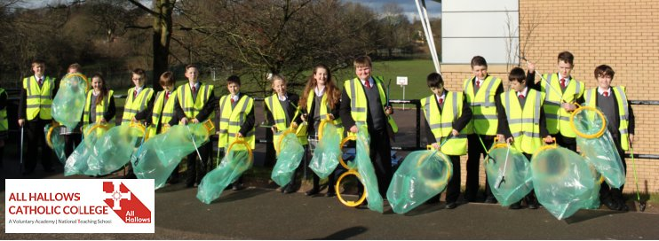 All Hallows Catholic College, Macclesfield, Litter Pick