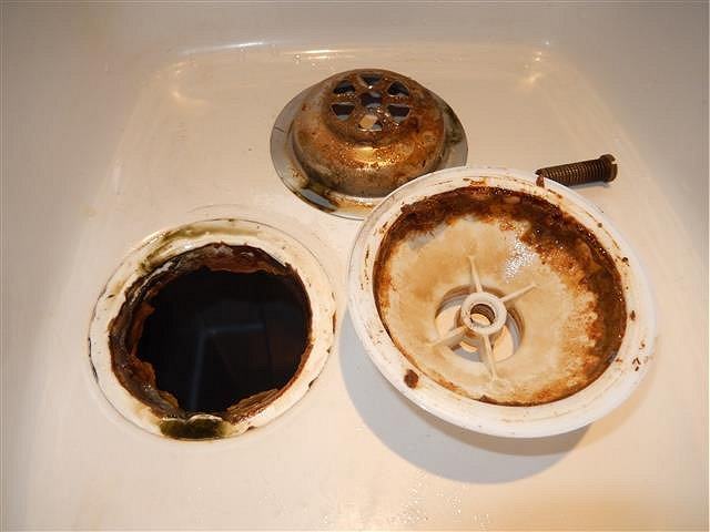 kitchen sink drain smells